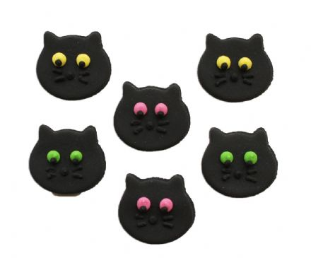 Black Cat Sugar Decorations
